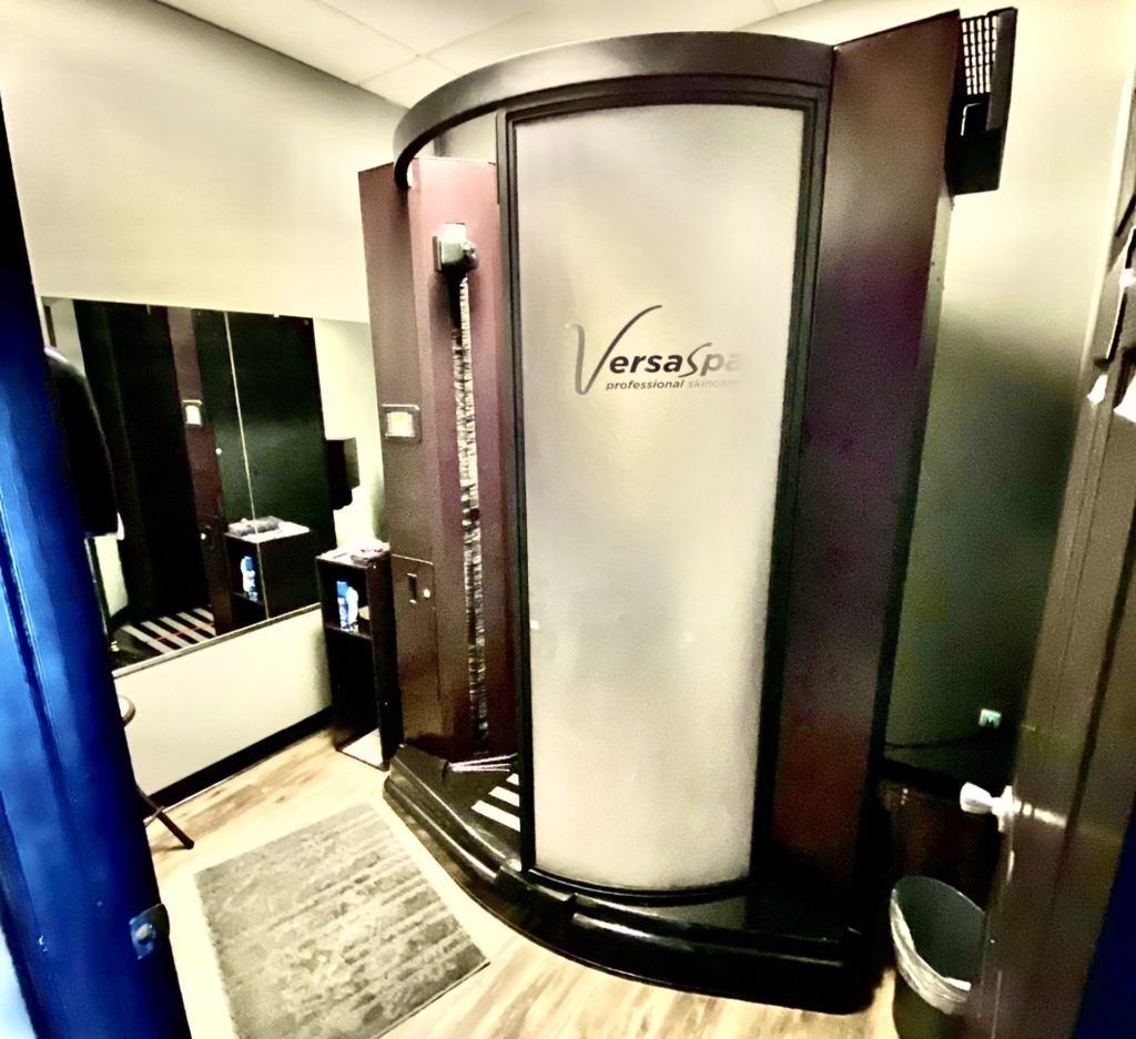 Our New Automatic Spray Tan Booth!